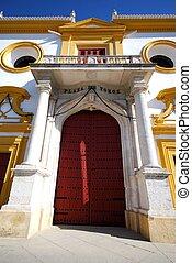 Bullring entrance, Seville, Spain. - The bullring entrance...