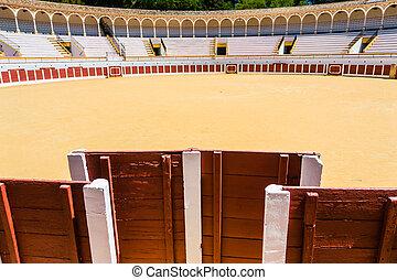 bullring in Antequera, Malaga, Spain