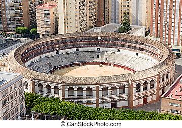 bullring in Malaga, Spain
