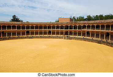 Bullring, Ronda, Spain. - Spains oldest bullring built in...
