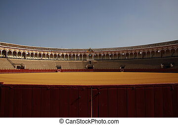 Bullring Sevilla - the famous bullring in Seville, Spain