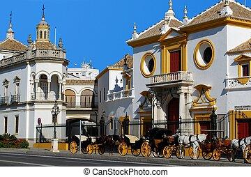 Bullring, Seville, Spain. - The Bullring (Plaza de toros de...