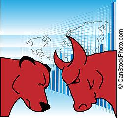 Bulls And Bears - Symbols to exchange trade bear and bull