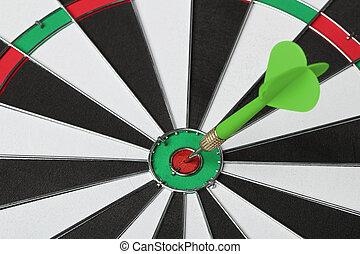 bull?s, dartboard, isolado, fundo, branca, eye.