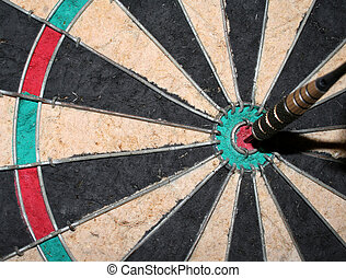 A closeup of a perfect bulls-eye.