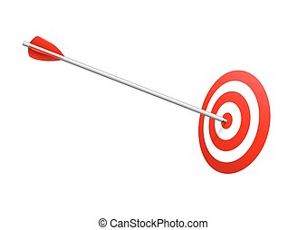 Bulls eye arrow