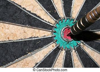 bulls-eye, closeup