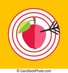 Bulls eye icon. archery flat infographic design