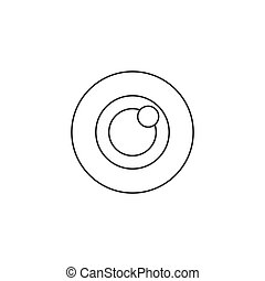 Bulls eye icon vector, target solid logo illustration, pictogram isolated on white