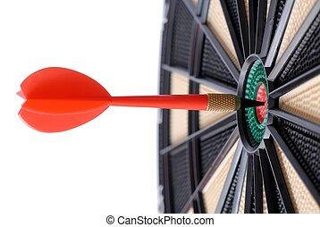 Bull\\\'s Eye - Isolated dart and dartboard