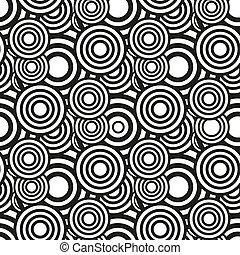 Bulls Eye Seamless Outline Pattern. vector illustration eps10