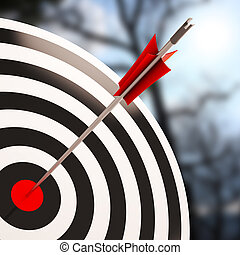 Bulls eye Shot Shows Excellence And Skill - Bulls eye Shot...