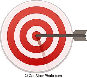 Bulls eye target icon, cartoon style