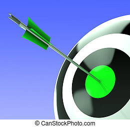 Bulls eye Target Shows Competitive Strategy