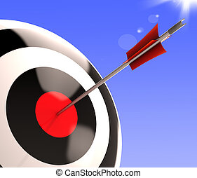 Bulls eye Target Shows Excellence And Skill
