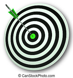 Bulls eye Target Shows Perfect Accuracy And Focus - Bulls...