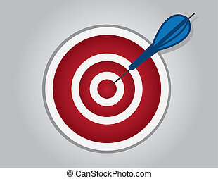 Bullseye Dart  - Bullseye with dart hitting the center