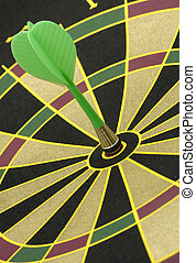 Bullseye - Dartboard WIth Dart in Center