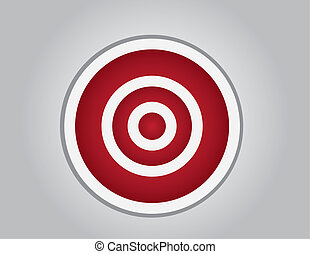 Empty red and white bullseye