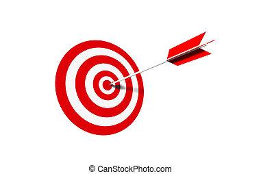 bullseye - business concept/sport - 3d illustration