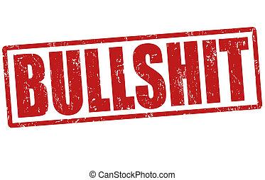 Bullshit grunge rubber stamp on white, vector illustration