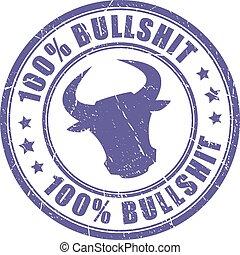 Bullshit stamp on white background