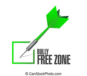 bully free zone check mark sign concept illustration design...