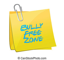 bully free zone post illustration design over a white ...