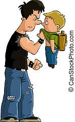Bully - The bully and the little boy, vector
