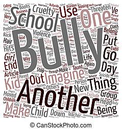 bullycide, concetto, dado, volontà, wordcloud, testo, fondo, bambino, tuo