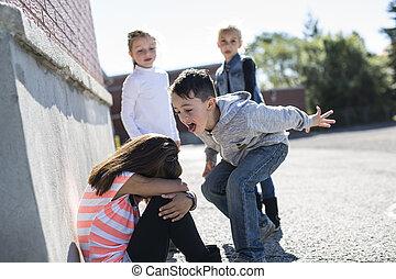 bullying, школьный двор, возраст, элементарный