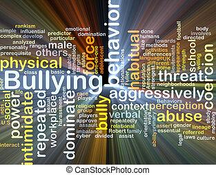 bullying, ardendo, concetto, fondo