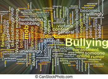 Bullying background concept glowing - Background concept...