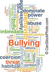 bullying, concetto, fondo