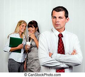 bullying, in, il, posto lavoro, ufficio