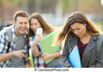 Bullying victim being recorded by classmates - Bullying...