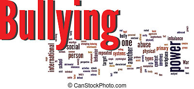 bullying word cloud - bullying social issue word cloud