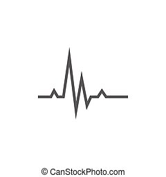 bulta, hjärta, fodra, icon., kardiogram
