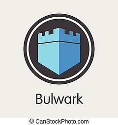 Bulwark Cryptocurrency - Vector Icon.