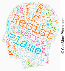 Bulwark Flame Resistant Wear text background wordcloud...