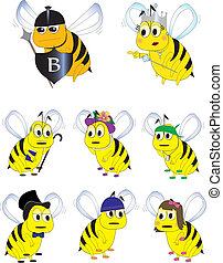 Bumble Bee characters - diverse group of bumble bee cartoon ...