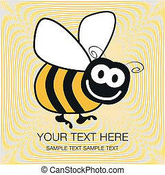 Bumble bee design. - Bumble bee design with copy space.