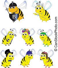 bumble, caractères, abeille