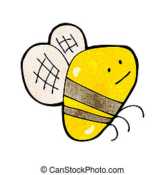 bumble, caricatura, grasa, abeja