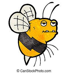 bumble, dessin animé, graisse, abeille