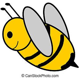 Bumblebee - springtime - bumblebee in flight