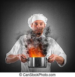 Bumbling chef