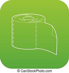 bumf icon green vector