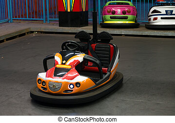 Bump Car - Colored bumping car in a park for kids