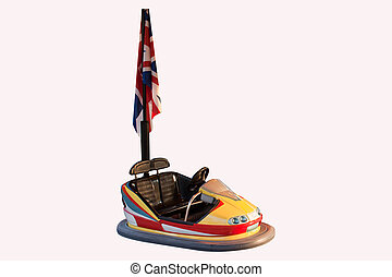 bumper carousel with flags outlined